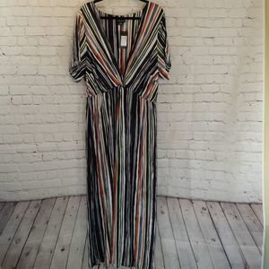 NWT City Chic Jungle stripe maxi dress size 18